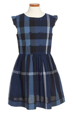 Burberry 'Phoebe' Check Print Dress (Little Girls & Big Girls)
