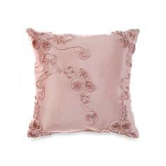 Glenna Jean Ava Ribbon Throw Pillow in Pink - BedBathandBeyond.com