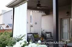 No Blow DIY Outdoor Curtains - the Project Addict