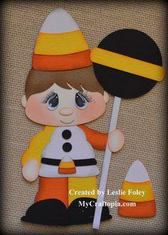 Boy Dress up Premade Halloween Scrapbooking by MyCraftopia on Etsy