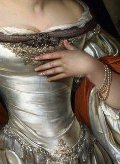 Eglon van den Neer (Detail) Judith,1676. Amazing dress, amazing oainting