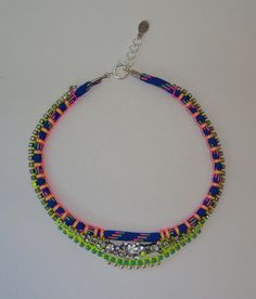 Love it!!!!! Vintage Crystal Rhinestone Necklace with Neon and by ZacariPiper, $50.00