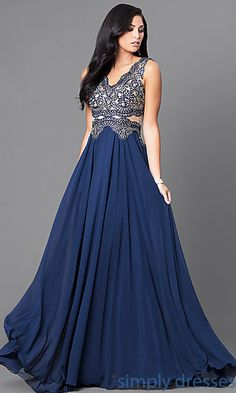 c54a7e068ac Shop long formal gowns with high necks at Simply Dresses. Sleeveless  evening dresses and beaded