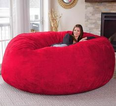 Latitude Run Microsuede Extra large Bean Bag Chair Upholstery Color: Giant Bean Bag Chair, Bean Bag Bed, Giant Bean Bags, Extra Large Bean Bag, Large Bean Bags, Chill Bag, Classic Bean Bags, Big Sofas, Furniture Covers