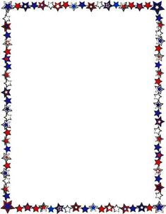 Patriotic Border {Freebie} Great for Fourth of July units!