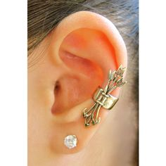 Arrow Ear Cuff Bronze Quiver And Arrows Ear Cuff Hunger Games Inspired... ($22) ❤ liked on Polyvore
