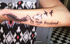 fly high freebird tattoo