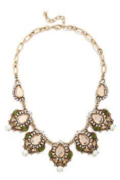 Moorland Myth Champagne Rhinestone Statement Necklace at Lulus.com!