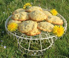 Plate of Dandelion and Lemon Biscuits