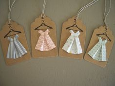 Etsy - Shop for handmade, vintage, custom, and unique gifts for everyone Paper Tags, Diy Paper, Paper Crafts, Origami Dress, Cotton Decor, Creation Deco, Heirloom Sewing, Clay Crafts, Birthday Party Decorations