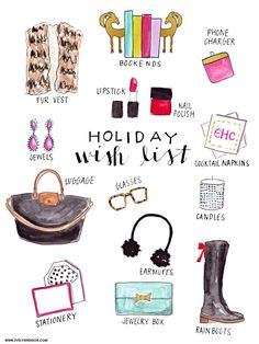 Holiday Wishlist via Evelyn Henson #behindthepalette // www.evelynhenson.com