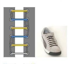 Straight lacing  See 16 ways to tie your shoes: http://attireclub.org/2013/07/20/16-creative-ways-to-tie-your-laces/ #attireclub #shoelaces #laces #strings