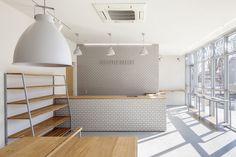 Bakery interior bakery design in japan bakery shop interior design Bakery Shop Interior, Cafe Interior, Shop Interior Design, Store Design, Design Design, Plywood Furniture, Plywood Floors, Kid Furniture, Furniture Design