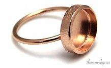 Rosé vermeil ring voor cabochon 11.5mm
