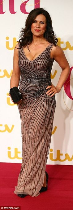 Susanna Reid puts on a VERY busty display in gold gown at ITV Gala | Daily Mail Online// nice pair up front love to be between them,there loverly.