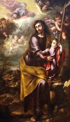 """Valdés Leal: """"San José con el niño  Jesús"""", 1675."""