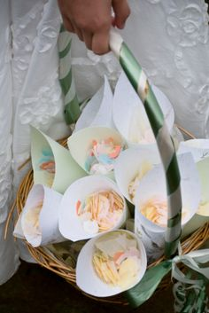 DIY: How to Make and Decorate plantable seeded rose toss paper cones