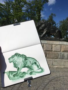 Sarah J. Loecker  : Urban sketching on the Schlossberg- first meetup a... Lion Sketch, Living In Europe, The New Normal, Sarah J, Urban Sketchers, History Museum, Natural History, Pet Portraits, Art Blog