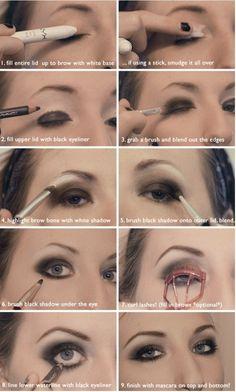 How To Do Black Smokey Eye #Makeup  #SmokeyEyes #EyeMakeup