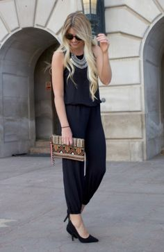 This Two Yard Jumpsuit Tutorial is easily customizable to fit both your taste and size, and is a contemporary classic that everyone should own! Only Fashion, Teen Fashion, Runway Fashion, Fashion Tips, Fashion Trends, Sewing Patterns For Kids, Clothing Patterns, Sewing Ideas, Sewing Tutorials