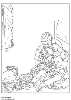 Dibujo para colorear Bartolomé Murillo