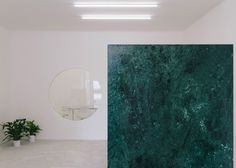 Different coloured slabs of marble are the main design element in this Portuguese estate agents.