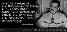 Este hombre es Lázaro Cárdenas, uno de los mejores presidentes que ha tenido la nación mexicana. Nos demostró con su ejemplo que para crecer debemos ayudar a otros.