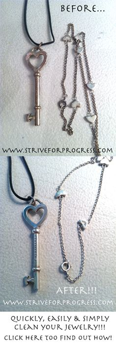 Quickly Clean Tarnished Jewelry with a common household product!!! Click here to find out how! http://www.striveforprogress.com/video-cleaning-your-tarnished-jewelry-very-quick-and-super-easy/