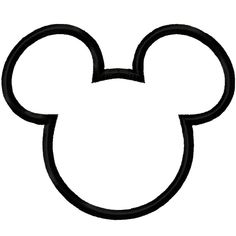 Mickey Mouse head outline...maybe do as a stencil and paint in a light blue-white color randomly on the wall for Mickey shaped bubbles?