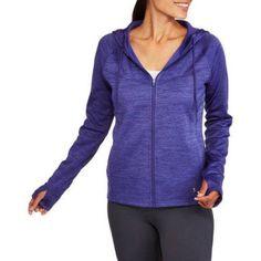 Danskin Now Women's Active Tech Fleece Full Zip Hoodie, Size: Small, Blue