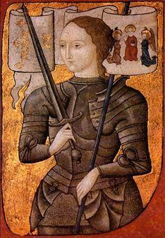 Jeanne d'Arc var en kvinna uppväxt på en bondgård vars krigsinstatser ledde till att Frankrike befriades från engelsk ockupation. Iklädd manskläder ledde hon sina trupper till seger. Själv menar hon att det var hennes kommunikation med Gud som gjorde det möjligt.   I dag är d'Arc helgonförklarad och ses som en mycket viktig historisk person.