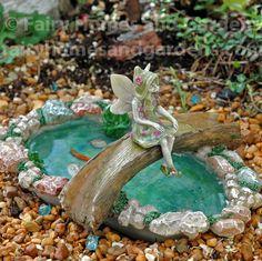 Fairy Homes and Gardens - Tree Bridge Fairy Pond, $13.99 (https://www.fairyhomesandgardens.com/tree-bridge-fairy-pond/)