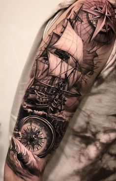 amazing and best arm tattoo design ideas for 2019 part 12 - pirates . - amazing and best arm tattoo design ideas for 2019 part 12 – pirate tattoo – - 12 Tattoos, Girl Arm Tattoos, Arm Sleeve Tattoos, Arm Tattoos For Women, Tattoo Sleeve Designs, Tattoo Designs Men, Hand Tattoos, Tattoos For Guys, Tattoo Women