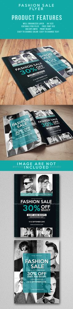 Fashion Sale Promotion Flyer  — PSD Template • Only available here ➝…
