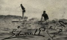 rare photo shows King Edward VIII, then the Prince of Wales, riding a wave in Hawaii in 1920