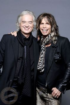 Jimmy Page & Steven Tyler - Ross Halfin