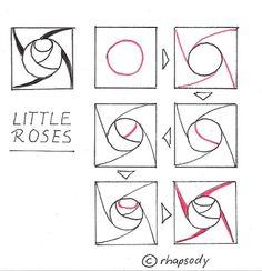 Little Roses~Zentangle