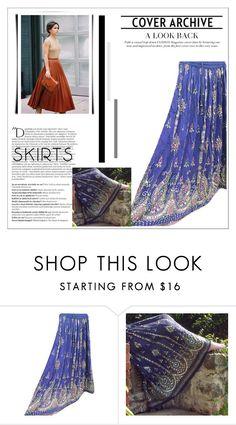 """Maxi Skirts"" by india-trendzs ❤ liked on Polyvore featuring Balmain, maxiskirt, skirts, longSkirt, BohoStyle and bohemianskirt"