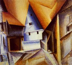 Ober-Weimar 1921 Lyonel Feininger, oil on canvas 90 x 100 cm. Bauhaus, Ludwig Meidner, Infinite Art, Franz Marc, Whitney Museum, Art Database, Wassily Kandinsky, American Artists, Modern Art