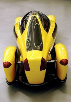 ♂ Yellow concept car Volvo Tandem Coupe Top Rear View #concept #car #yellow #vehicle