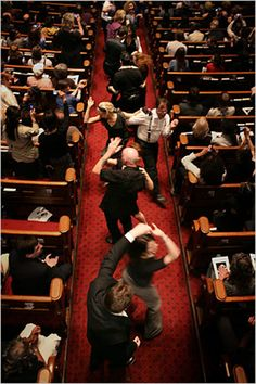 Celebrants dancing in the aisles at the funeral of Frankie Manning, father of Lindy Hop. (Photo by Michael Appleton for the New York Times.) When I go I want things to be just this jumping.