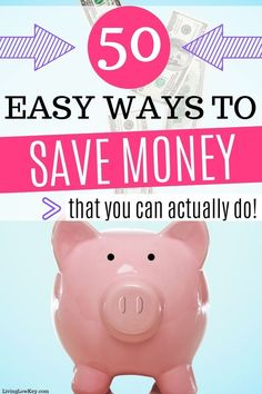 If frugal living is your jam here are 50 easy ways to save money. These money saving tips can be put to use if you are living on one income, in your for teens, or if you are saving for a house. Take control of your money with these frugal living tips. Best Money Saving Tips, Money Saving Challenge, Saving Money, Money Tips, Money Budget, Save Money On Groceries, Ways To Save Money, Money Plan, Savings Plan