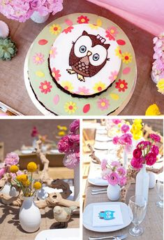 Darling Woodland Owl Baby Shower {Girl}