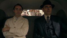 David Dawson and Rowan Atkinson in Maigret Sets a Trap (2016)
