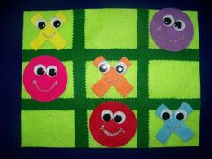 Tic Tac Toe Felt Board Set by creativefeltboards on Etsy, $10.00