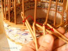 eldolgozás Поделка изделие Плетение Корзина для овощей Трубочки бумажные фото 8