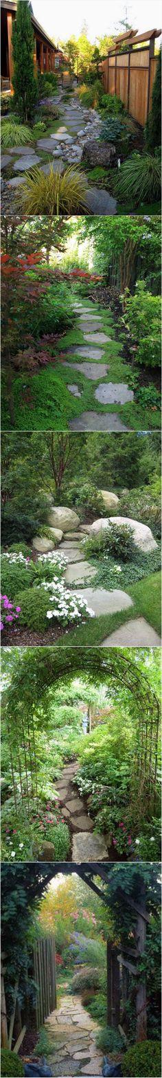 Garden Pathway Ideas and Inspiration ~ ღ Skuwandi