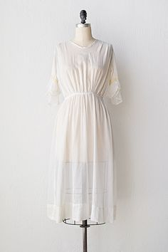Antique 1910s dress | vintage 1910s dress | Soft Wisps dress