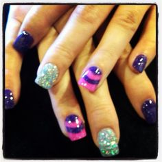 Solar nails done at lovely nails in Wichita Falls Texas