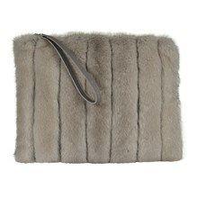 Belsac By Kopenhagen Fur skind/mink clutch med lynlås.   MINK!!